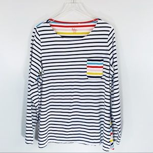 BODEN | Multicolored Striped Long Sleeve Tee